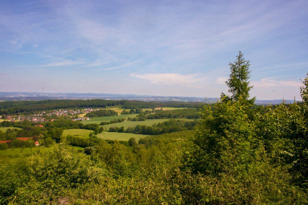 Fernblick über Bielefeld und Umgebung